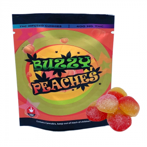 Buzzy Peaches THC Infused Gummies 400mg